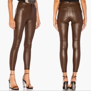Free people Faux Vegan Leather High Rise pants